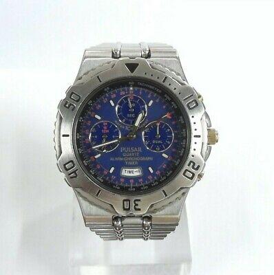 Vintage Pulsar Quartz Alarm-Chronograph Timer Men's Watch N945-6A10