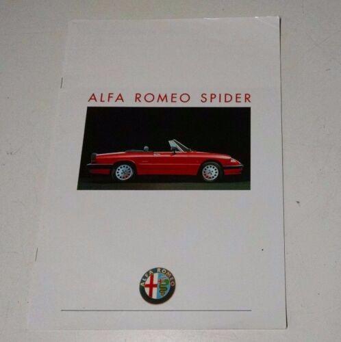 Alfa Romeo Spider French Sales Brochure