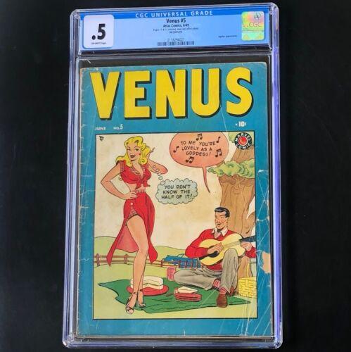 VENUS #5 (Atlas 1949) 💥 CGC 0.5 OW 💥 Jupiter Appearance! Golden Age Comic