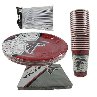 New NFL Atlanta Falcons 80pc Paper Plates Cups Forks Napkins Party Supplies](Party Supplies Atlanta)