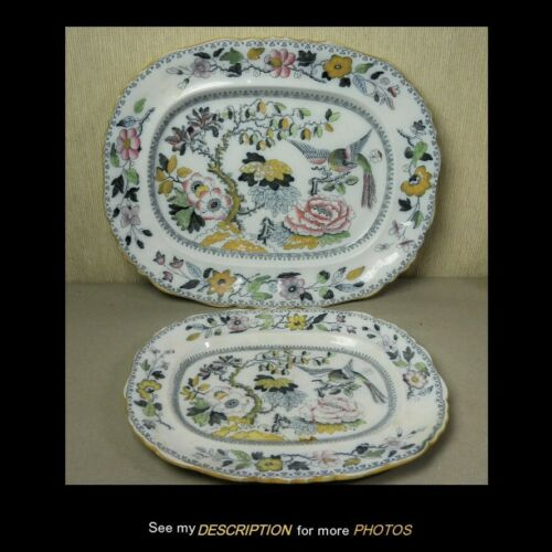 2 Antique Ashworth Brothers Hanley Serving Platters Ironstone China