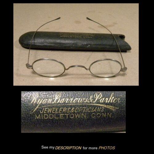 Antique Pair Civil War Era Eyeglasses Original Case
