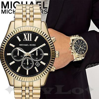 Michael Kors uhr herrenuhr mk8286 lexington farbe gold schwarz neu