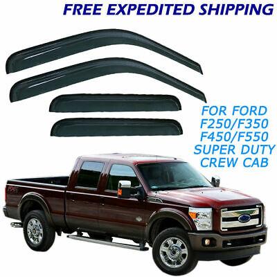 for Ford F250 F750 Super Duty Crew Cab 99-12 Window Visors Sun Guard Wind Shield