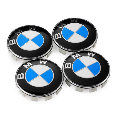 4Pcs Genuine BMW Emblem Logo Badge Hub Wheel Rim Center Cap 68mm Set of 4 Cover
