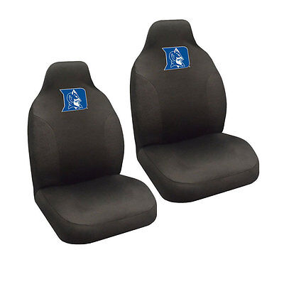 New NCAA Duke Blue Devils Universal Fit Car Truck 2 Front Seat Covers Set
