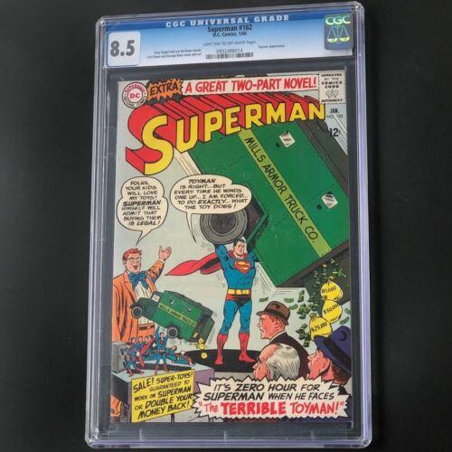 Superman #182 (1966) 💥 CGC 8.5 💥 Silver Age Toyman Appearance! DC Comic