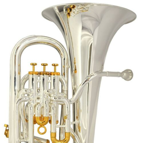 Compensating Euphonium The O'Malley 4 valve Silver plate / Gold plated Accents