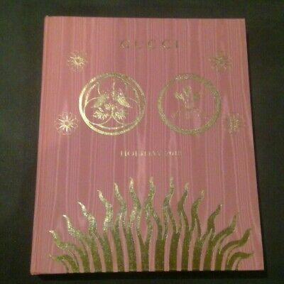 GUCCI Holiday 2018 Pink HB Watered Silk Pattern Advertising Book w/Price Inserts