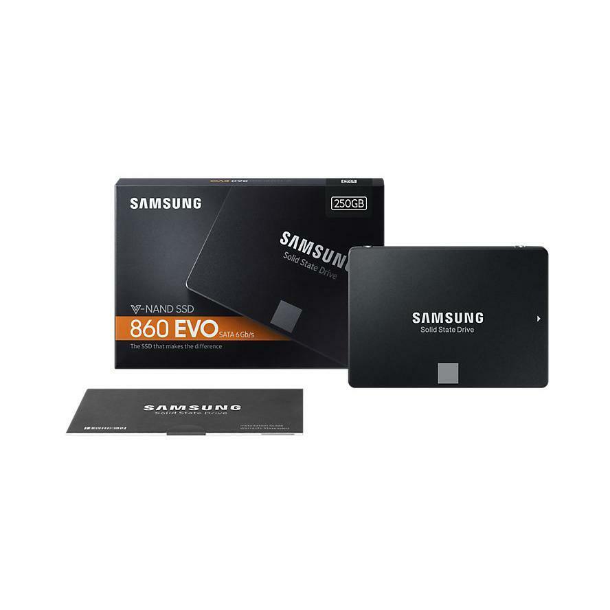 Interne SSD Festplatte Samsung 860 EVO 250 500 1TB 2TB 4TB 2.5 Zoll SATAIII 3D