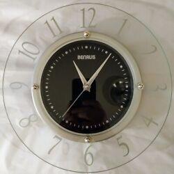 Benrus 11 Wall Clock Glass Contemporary Design Home Decor