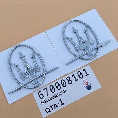 Maserati Quarterpanel Sliver Logo RH,LH Emblem Badge Ghibli Quattroporte On Sale