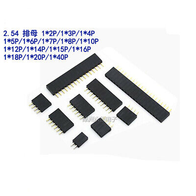 2.54mm Pitch Singledouble Row Female Header Socket Connector For Pcb 2 To 40pin