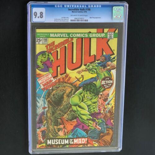 The Incredible Hulk #198 (1976) 💥 CGC 9.8 💥 Rare! Man-Thing App! Marvel Comic