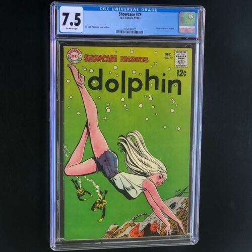 SHOWCASE #79 (1968) 💥 CGC 7.5 OW 💥 1ST APPEARANCE of DOLPHIN! DC Comics