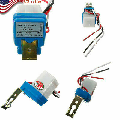 Us Auto Night On Day Off Street Light Switch Photo Control Sensor 12v 10a