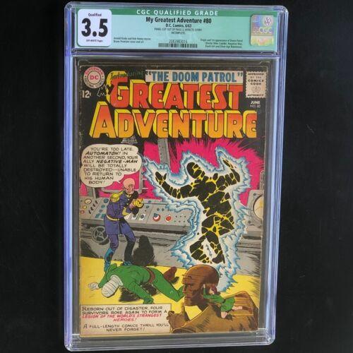 My Greatest Adventure #80 (DC 1963) 💥 CGC 3.5 Qualified 💥 1st App Doom Patrol!