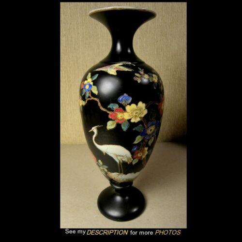 Antique Carlton Ware Cloisonne Vase Stork Pattern Wiltshaw & Robinson