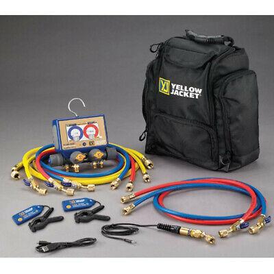 Yellow Jacket 40877 P51-870 Titan Digital Manifold Yjack Wireless Clamps Hoses