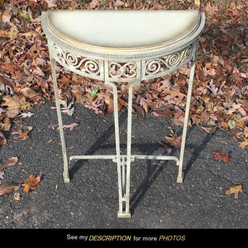 Vintage Art Deco Demilune Console Hall Table Verona 334 CHF Co