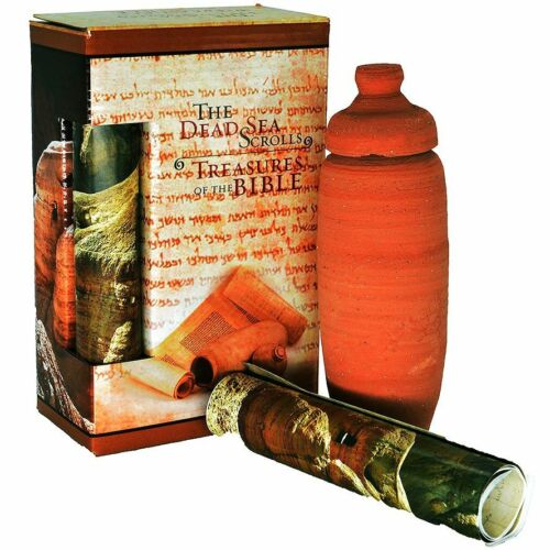 Biblical Clay Dead Sea Qumran Educational Replica Scrolls from the Holy Land