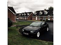 Bmw 3 / e46 /coupe /04 year / 2L petrol /Black /Swap for Saab 2l petrol new shape +cash my way/£2500