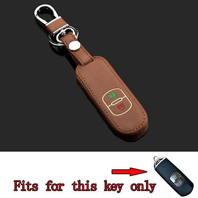 2BT Leather Night Glow Smart Remote Key Holder Cover Case For Mazda CX-5 3 Axela