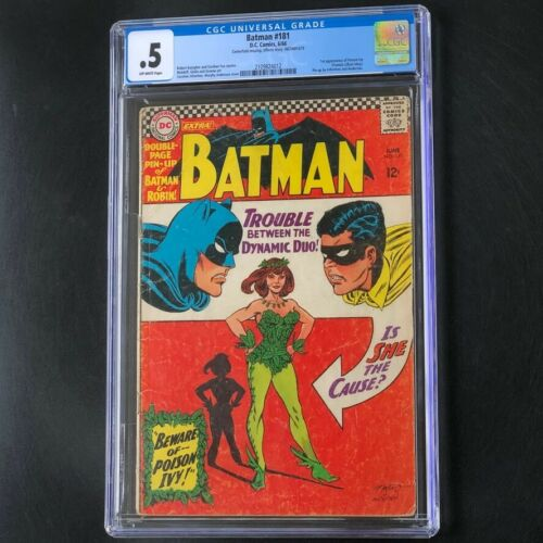 Batman #181 (1966) 💥 CGC 0.5 OW 💥 1st Appearance of Poison Ivy! DC Comic