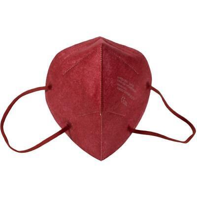 FFP2 (KN95) Atemschutzmaske 5-lagiger Filter rot / 5 Stück einzeln vertütet