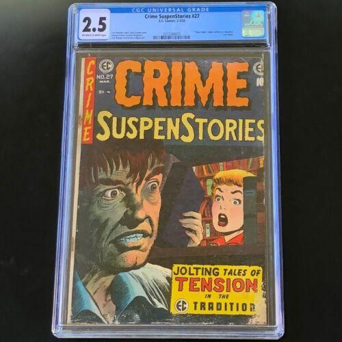 Crime SuspenStories #27 (EC 1954) 💥 CGC 2.5 OWW 💥 LAST ISSUE Golden Age Horror