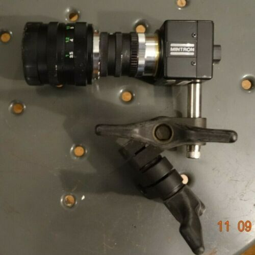 MINTRON B/W industrial camera 1/3 inch CCD With 50mm, 2X Lens, stand mount