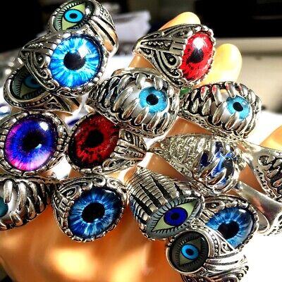 Wholesale 30 Men Women Alloy eyeball Ring Wedding fashion punk Rings