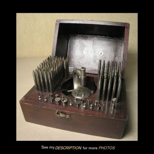 Antique K & D Special Watchmakers STAKING SET Watch Tool Kit
