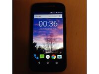 Moto E (2nd gen) with 4G LTE unlocked 1yo Black, £65.