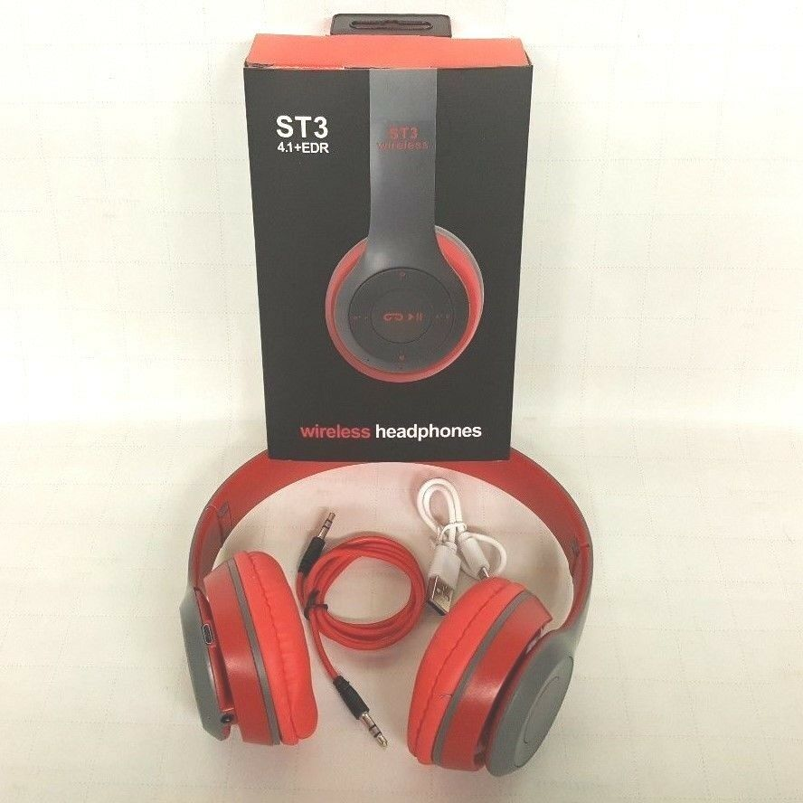 Wireless Bluetooth Headphones TF Card/FM Stereo Radio, MP3 P