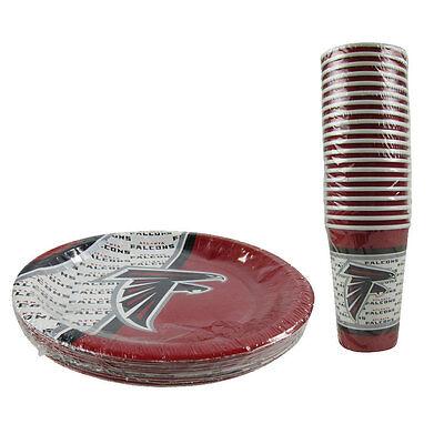 New NFL Atlanta Falcons 40 Disposable Paper Plates Cups Party-Ware Supplies](Party Supplies Atlanta)