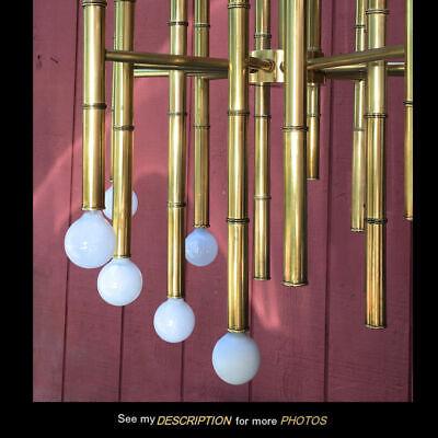 Jonathan Adler Meurice 30 bulb Chandelier brass faux bamboo lamp light fixture