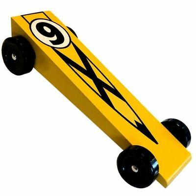 Racer X Pinewood Derby Car Kit - Super Speed Wedge - VERY FAST - Derby Monkey Car Racer Kit