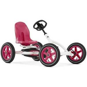 BERG Buddy White & Pink Kids Ride On Pedal Kart Horsham Horsham Area Preview