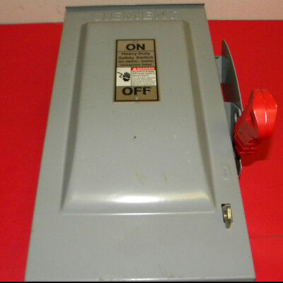 Siemens Hf361nr Heavy Duty Safety Switch 30amp 600volt Ac 250volt Dc