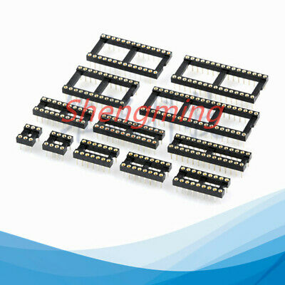 10pcs Round Hole Ic Socket 8 14 16 18 20 24 28 40 Pin Dip8 Dip14 Dip16 Connector