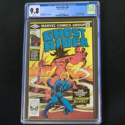 GHOST RIDER #68 (1982) 🔥 CGC 9.8 WP 🔥 Origin Issue! Mephisto App! Marvel Comic