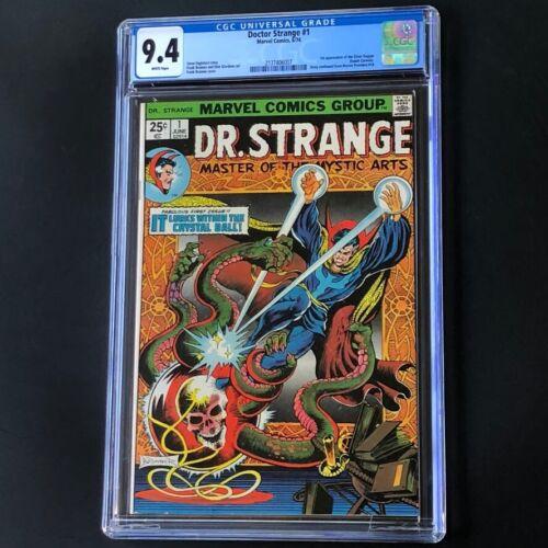 Doctor Strange #1 (1974) 💥 CGC 9.4 White Pg 💥 1st App Silver Dagger! Dr Marvel