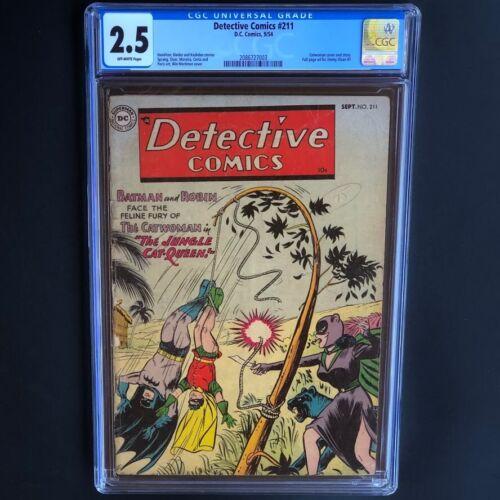 Detective Comics #211 (1954) 💥 CGC 2.5 OW 💥 Catwoman & Batman Cover! DC Comics