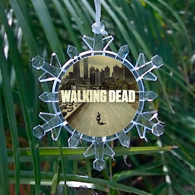The Walking Dead Snowflake Multi Color Blinking Holiday Christmas Tree Ornament ()