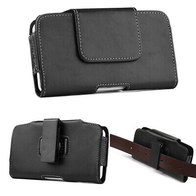 Universal Horizontal Cell Phone Case Pouch Holster with Belt Loop & Belt Clip
