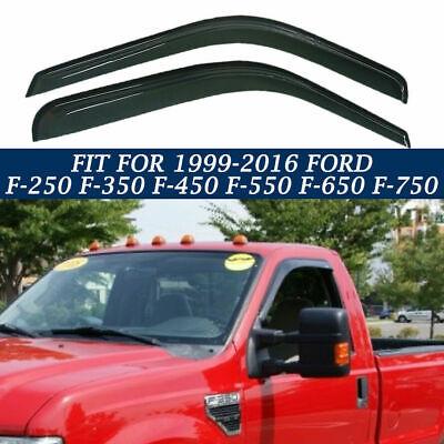 for Ford F-250 F350 F450 F550 F650 F-750 1999-2016 2x Window Visors Smoke Tinted