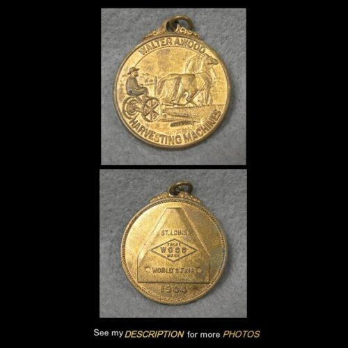 1904 St Louis Worlds Fair Advertising Medal Atwood Harvesting Machines