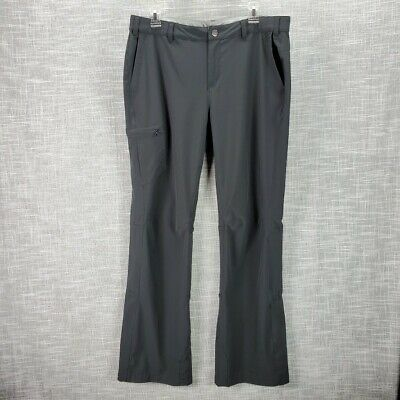 REI Sahara Roll Up Pants Size 14 Black Convertible Hike -