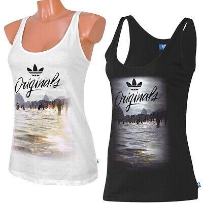 Adidas Beach Graphic Tank Top Damen Achselshirt Trefoil Boxer Shirt Logo Women - Adidas Tank Top